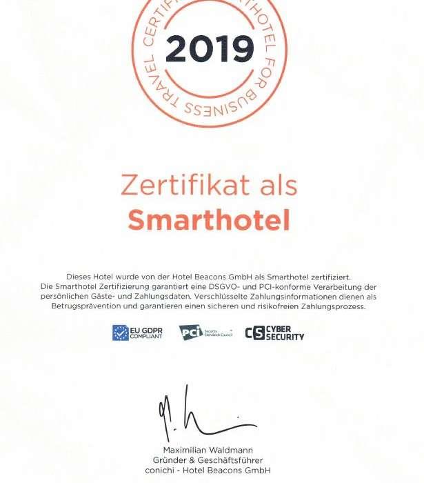 Smarthotel Zertifikat